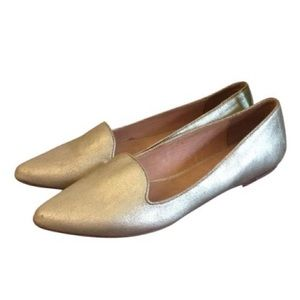 NEW Joie Pointed Toe Flats in Gold